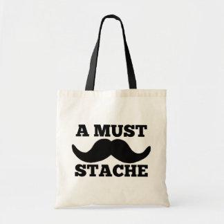 A MUST STACHE CANVAS BAG