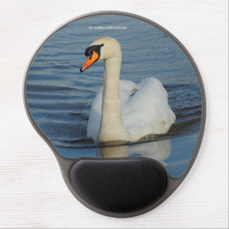 A Mute Swan Approaches Gel Mouse Pad