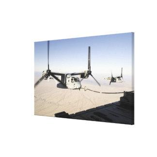 A MV-22 Osprey refuels midflight Canvas Print