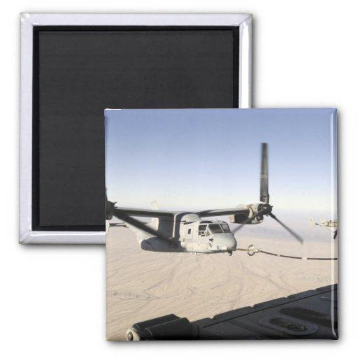 A MV-22 Osprey refuels midflight 2 Inch Square Magnet