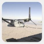 A MV-22 Osprey refuels midflight Square Sticker