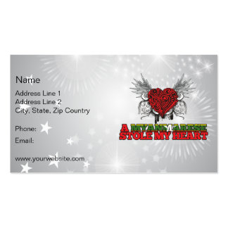 A Myanmarese Stole my Heart Double-Sided Standard Business Cards (Pack Of 100)