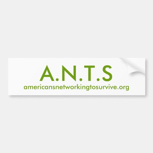 A.N.T.S, americansnetworkingtosurvive.org Bumper Sticker