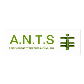 A.N.T.S - Tarjeta de visita del tótem de la hormig