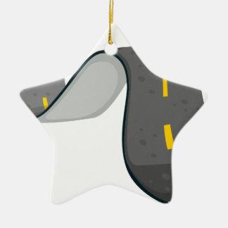A narrow road ceramic star ornament