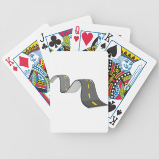 A narrow road bicycle playing cards