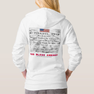A Nation Divided-GOD BLESS AMERICA in Red Letters Hoodie