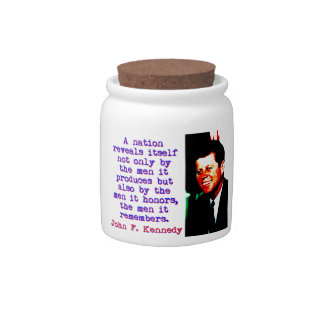 A Nation Reveals Itself - John Kennedy Candy Jars