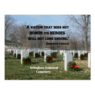 A nation that does not honor its heroes postcard