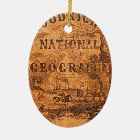 A National Geography, for Schools … with a Globe M Ceramic Ornament