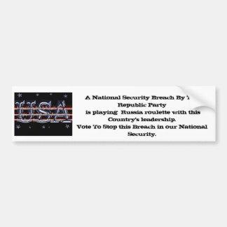 A National Security Breach Bumper Sticker