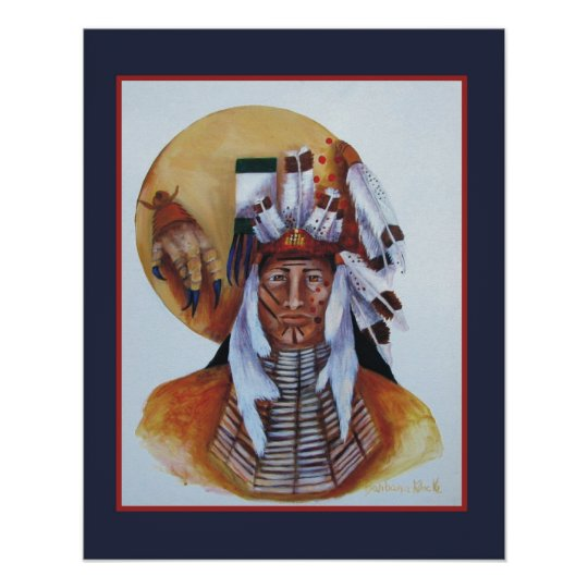 A Native American Warrior Poster