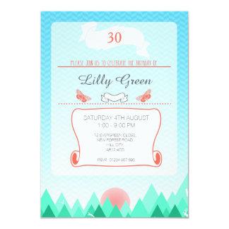 A nature lovers birthday invitation