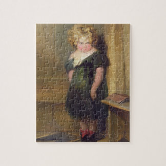 A Naughty Child (oil on canvas) Jigsaw Puzzle