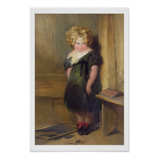A Naughty Child (oil on canvas) Posters
