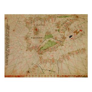 A nautical atlas postcard