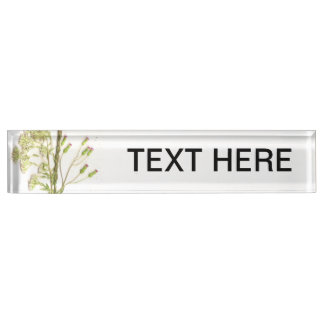 A neat scanned image of flowers name plate