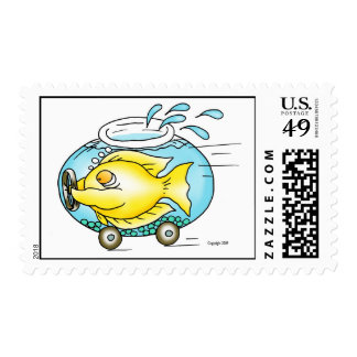 A need for speed! postage stamp