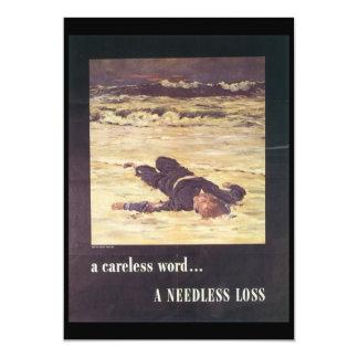 A Needless Loss World War 2 Card