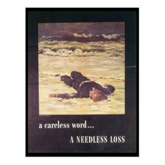 A Needless Loss World War 2 Post Card