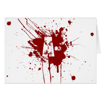 A Negative Blood Type Donation Vampire Zombie Greeting Card