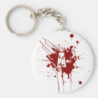 A Negative Blood Type Donation Vampire Zombie Keychain
