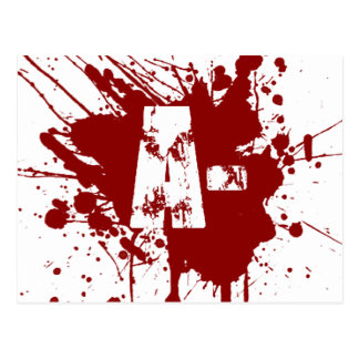 A Negative Blood Type Donation Vampire Zombie Postcard