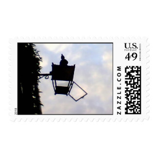 A neglected old  street lamp circa 1880's stamp