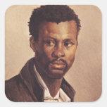 A Negro, 1823-24 Square Sticker