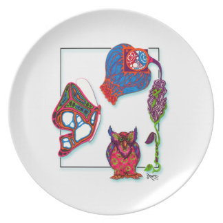 A Neon Doodle Plate