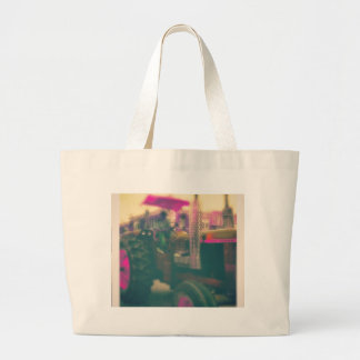 A Neon Tractor Large Tote Bag