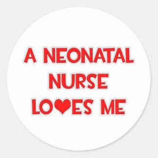 A Neonatal Nurse Loves Me Round Sticker