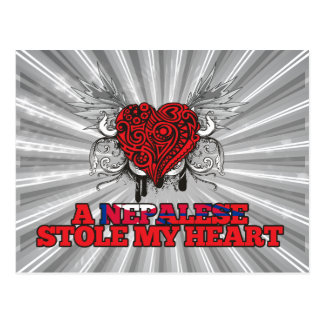 A Nepalese Stole my Heart Postcard