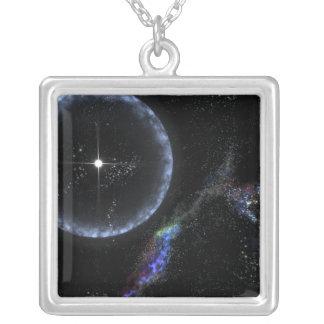 A Neutron star SGR 1806-20 Square Pendant Necklace