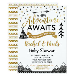 A New Adventure Awaits Baby Shower Invitation