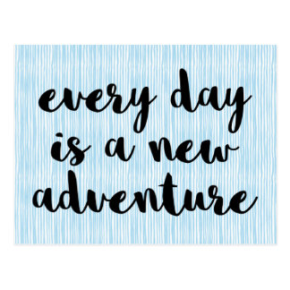 A New Adventure Quote Postcard