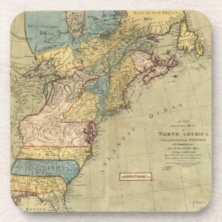 A new and accurate map of North America (1771) Beverage Coaster