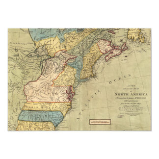 A new and accurate map of North America (1771) Card