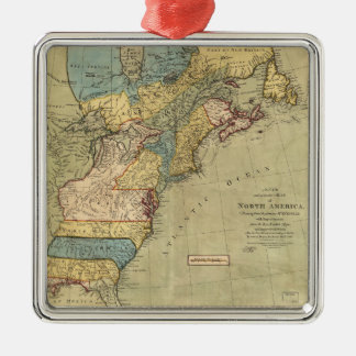 A new and accurate map of North America (1771) Metal Ornament