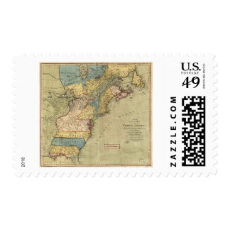 A new and accurate map of North America (1771) Postage