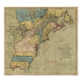 A new and accurate map of North America (1771) Poster
