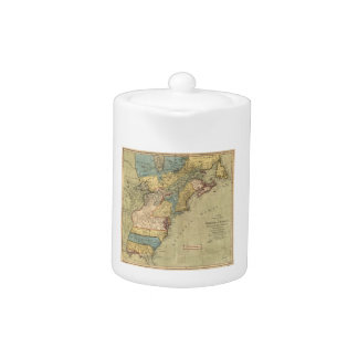 A new and accurate map of North America (1771) Teapot