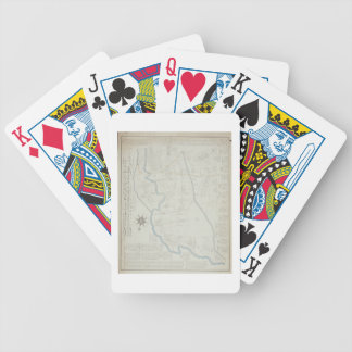 A New and Correct Map of Hackney Marsh, 1745 (lith Bicycle Playing Cards