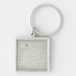 A New and Correct Map of Hackney Marsh, 1745 (lith Key Chain