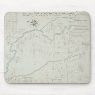 A New and Correct Map of Hackney Marsh, 1745 (lith Mouse Pad