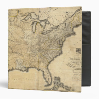 A new and correct map of the United States 3 Ring Binder