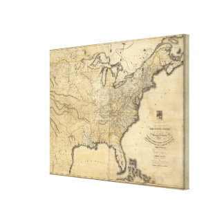 A new and correct map of the United States Canvas Print