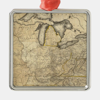 A new and correct map of the United States Metal Ornament