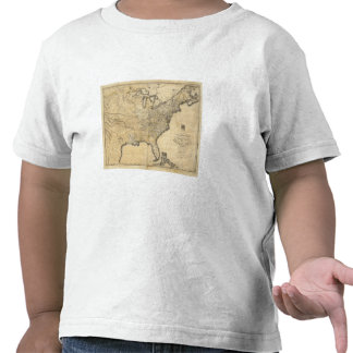 A new and correct map of the United States Tee Shirts