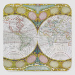 A New and Correct Map of the World, 1770-97 Square Sticker